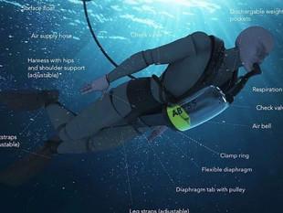 """Crean un """"pulmón artificial"""" que permite respirar bajo el agua de manera ilimitada"""