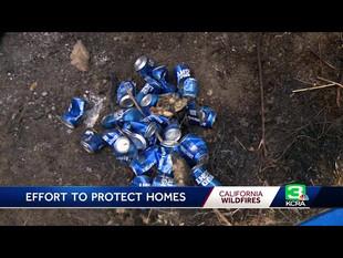 Hombre salva su casa de un incendio con latas de cerveza