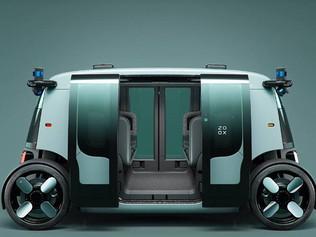 Amazon presentó su 'taxi-robot', un vehículo sin conductor