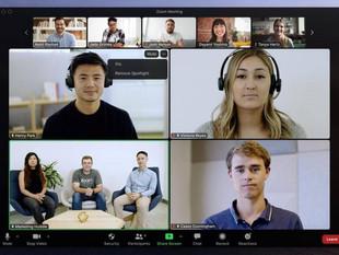 Zoom permite fijar múltiples videos durante las reuniones, entre otras nuevas funciones disponibles