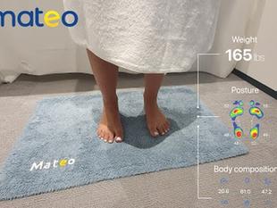Mateo, la alfombra de baño que monitorea el peso y la postura de tu cuerpo