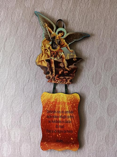 Mobile de Madeira com oração