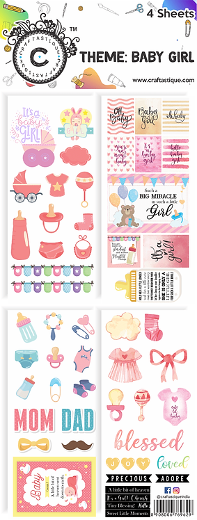 Elements & Tags Sheets : Baby Girl