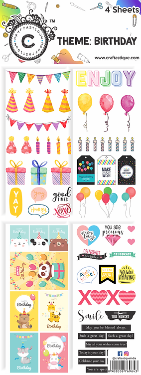 Elements & Tags Sheets : Birthday