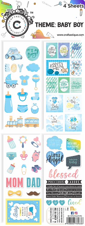 Elements & Tags Sheets : Baby Boy