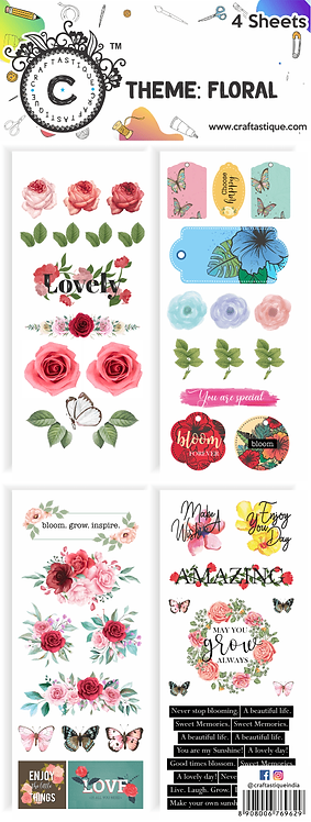 Elements & Tags Sheets : Floral
