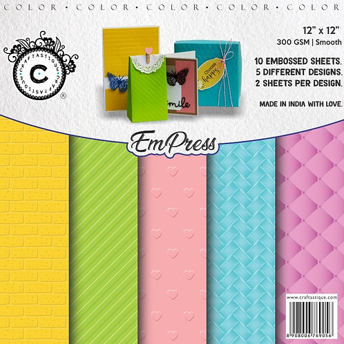 EmPress Embossed Sheets (Colored)