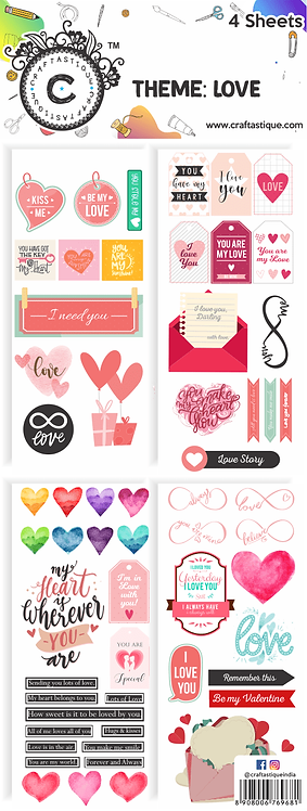 Elements & Tags Sheets : Love