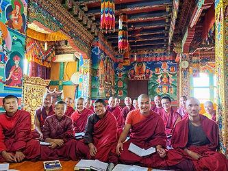 Bhutan monk class Nalanda.jpg