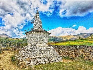 Bhutan, nice shot of Phobjikha stupa.jpg
