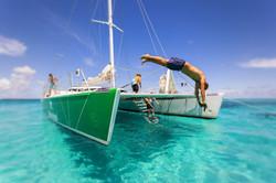 Catamaran to Prickly Pear Island