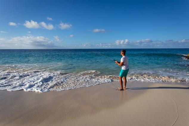 Lifestyle Man Fishing on Limestone Bay.j