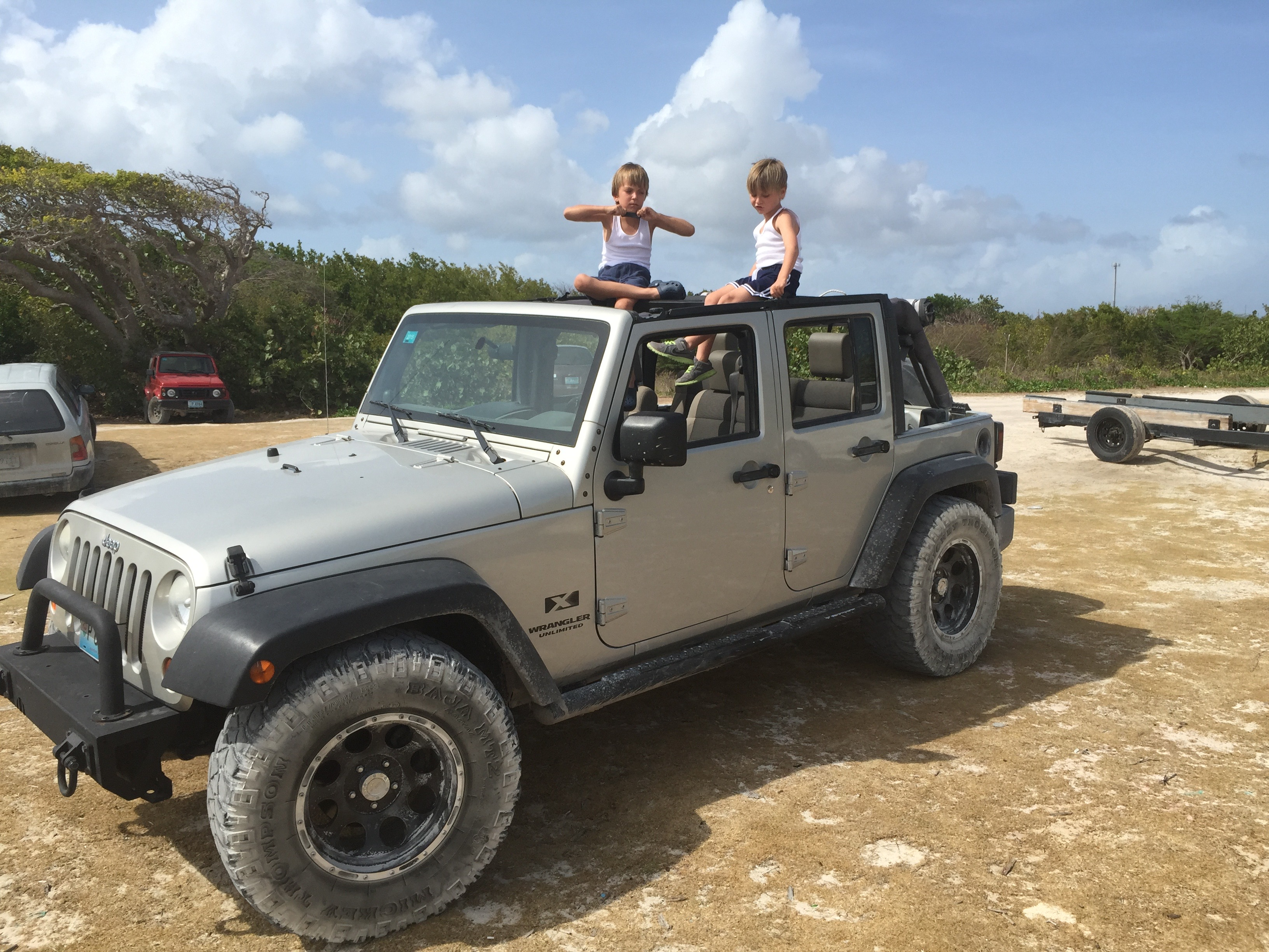 Jeep tour of the island
