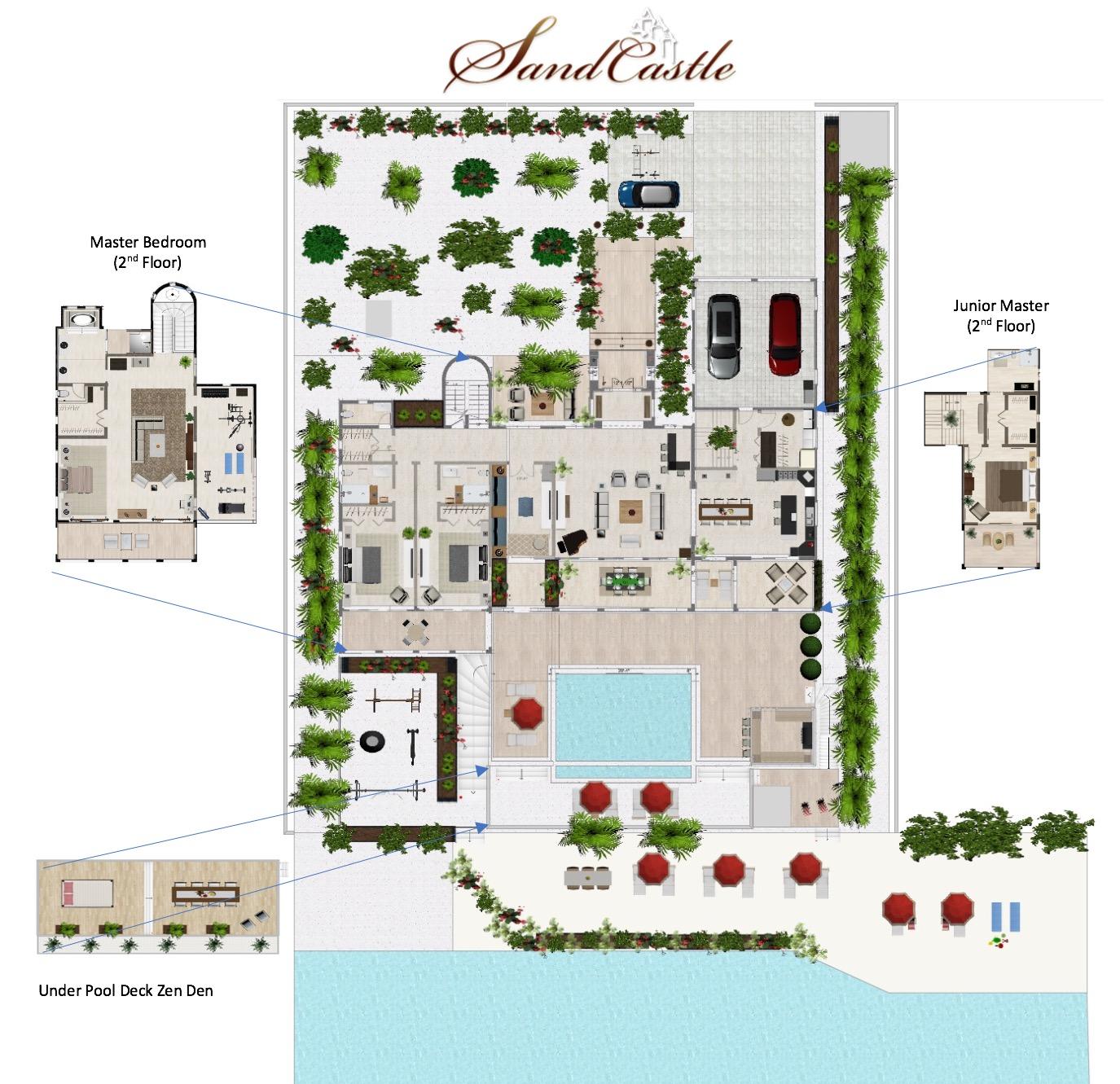 Sandcastle Villa 2D Plan