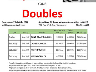 Jump Start Your DOUBLES Sept 7 & 8, 2018