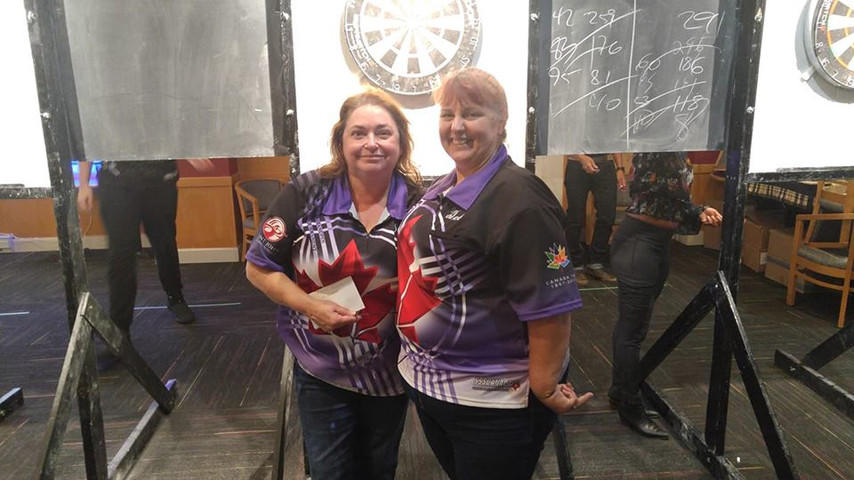 Womens Doubles Deb and Suzie