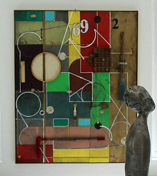FLUX Exhibition. Summer 2017_Painting_ Pedro Sousa Louro_www.pedrosousalouro.co.jpg_Sculpture_ Linda