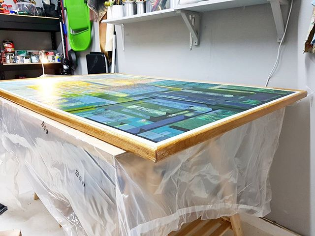 Framing day in the studio today for a client