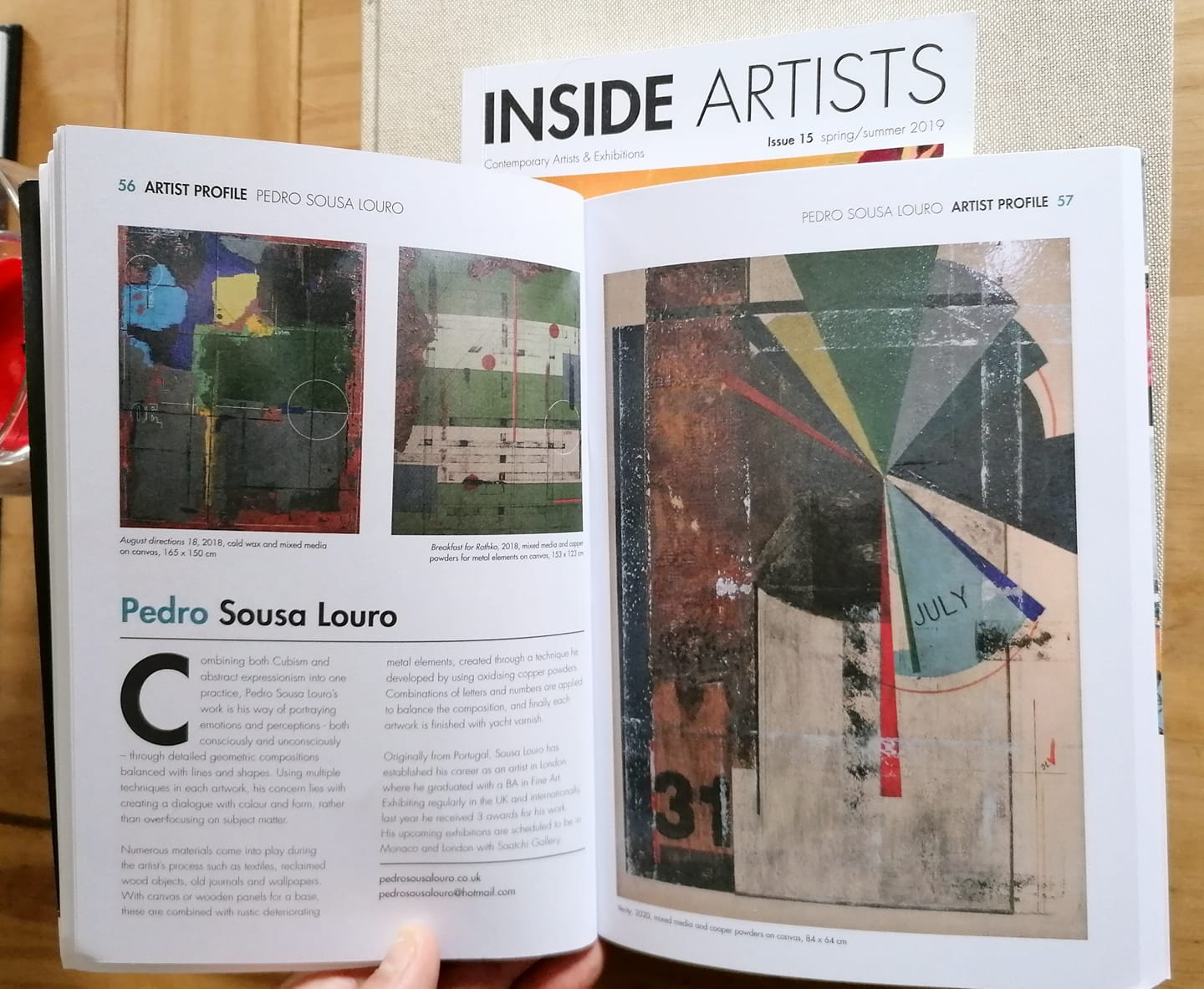 INSIDE ARTISTS MAGAZINE