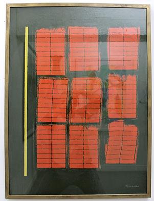 """Kitchen window 7am"" Mix media on wood board"