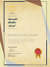 """""""Honorable Mention Award"""" 2019"""