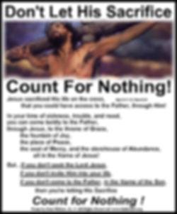 Don't Let His Sacrifice Count F.jpg