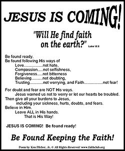 Jesus is Coming Will He Find Fa.jpg