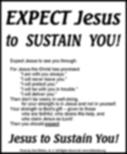 Expect Jesus To Sustain You.jpg