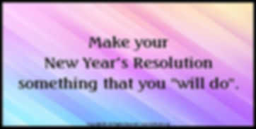 Wow #32 Make your new years resolution.j