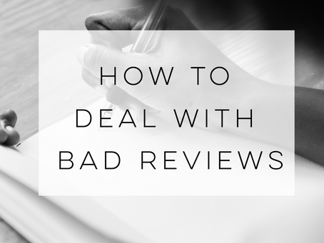 How to deal with a bad review