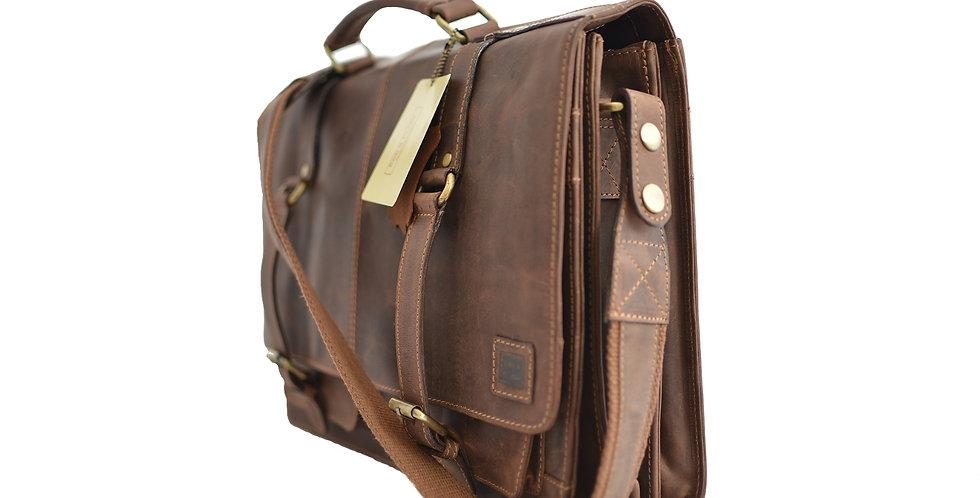 "15″ & 17"" Leather Satchel Bag"