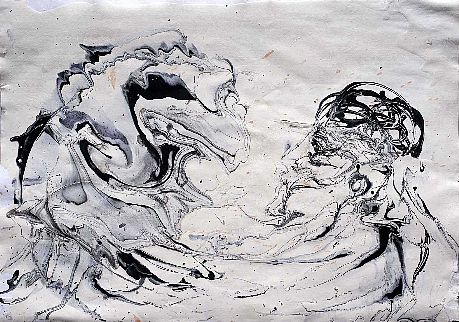 Woman and wave, 2010