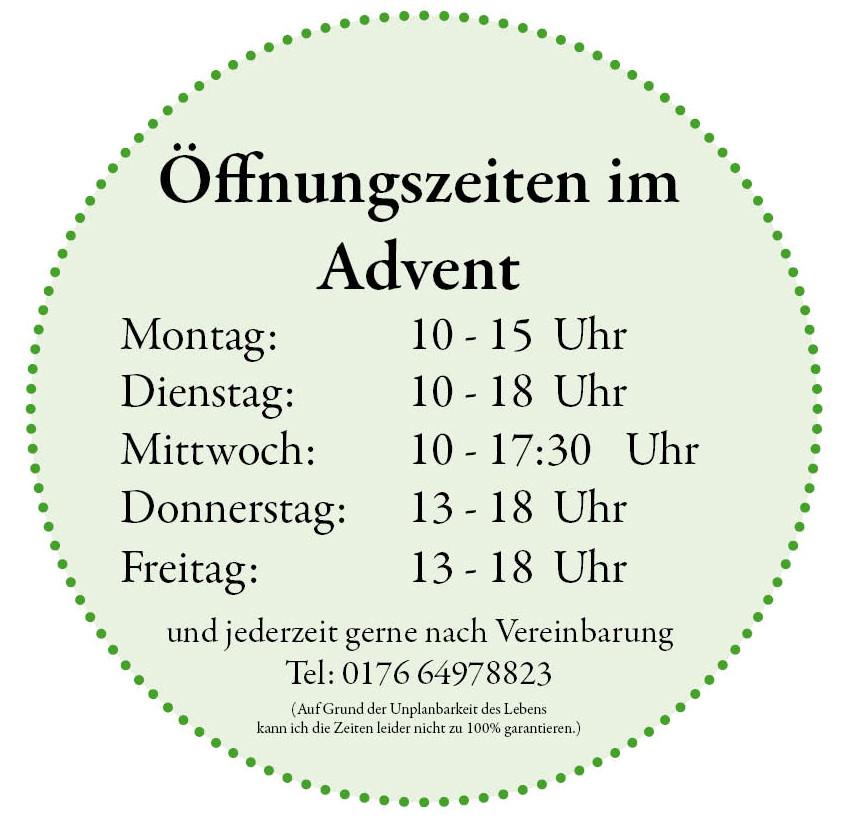 Öffnungszeiten im Advent 72dpi
