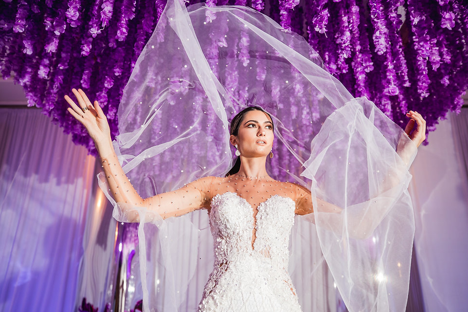 fr ftk purple tunnel styled shoot weddin