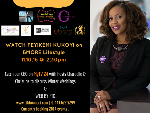 CEO & Founder of FTK~Konnect Events & WEB by FTK, Feyikemi Kukoyi is Featured on MyTV24