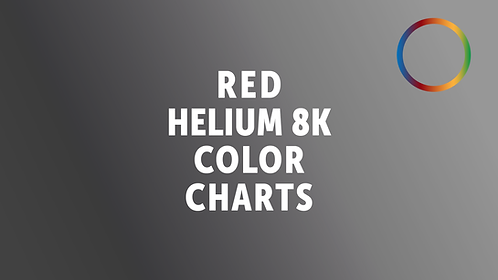 RED Helium 8K Color Charts
