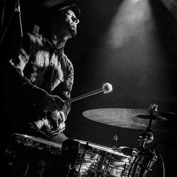 _benfarmanphotography #blackandwhite #drums #brudenellsocialclub #soulmusic #thabo #ludwigdrums #ist