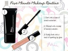 Five minute makeup routine