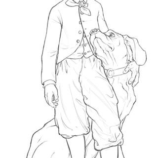 Le Prince Impérial et son chien Néron Né