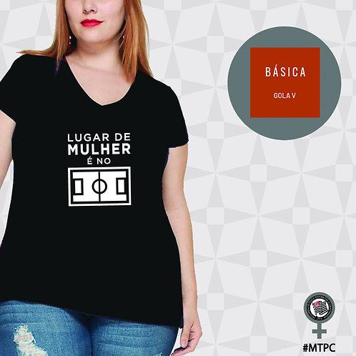 Camiseta Básica - Gola V