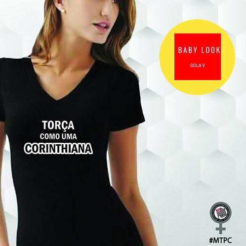 Camiseta Baby Look - Gola V