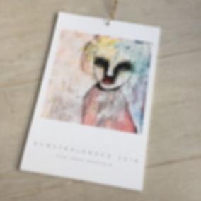 Kunst kalender 2018 Kari Anne Marstein kunstner