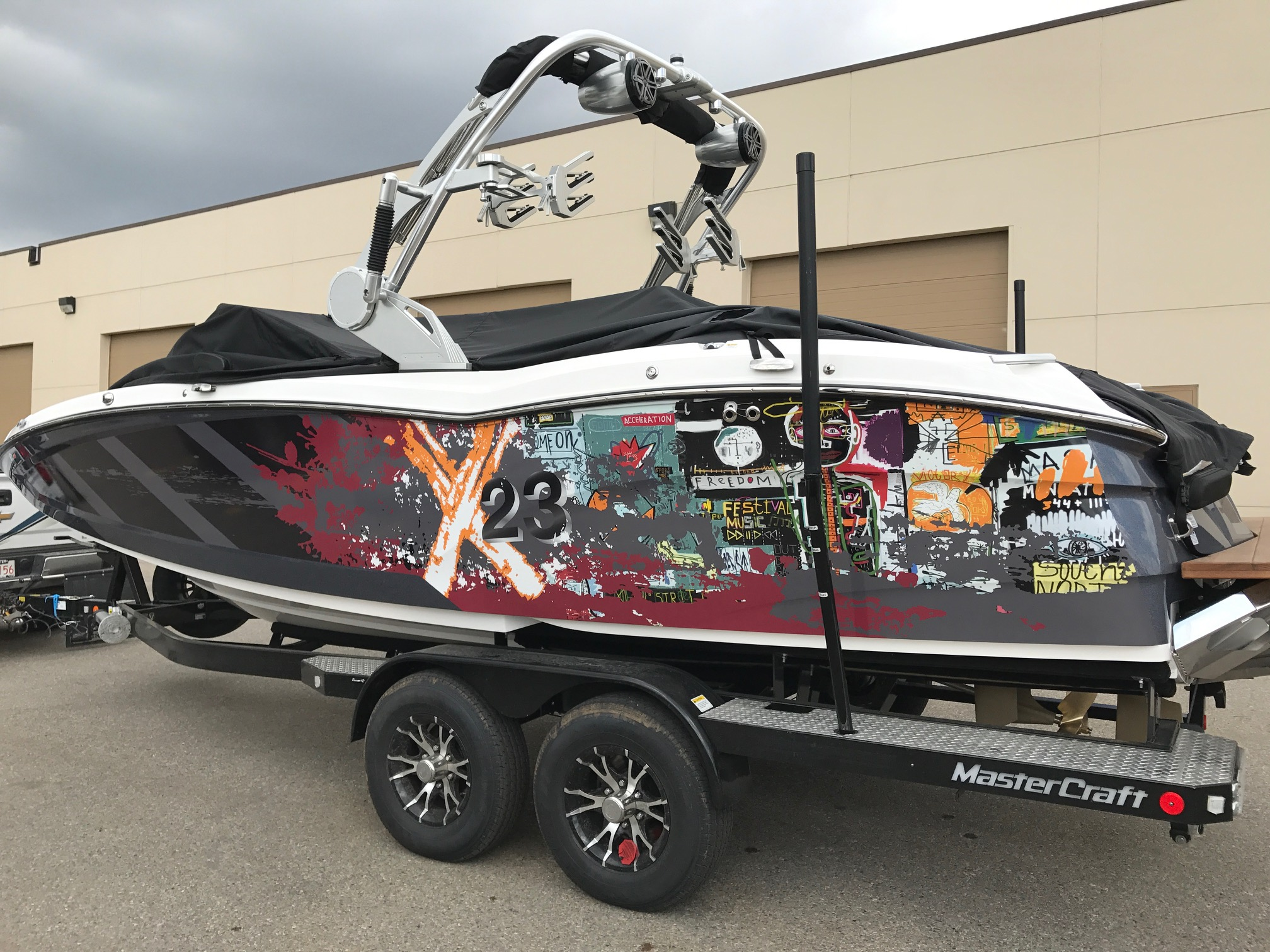 Custom wrap on 2017 Mastercraft X23