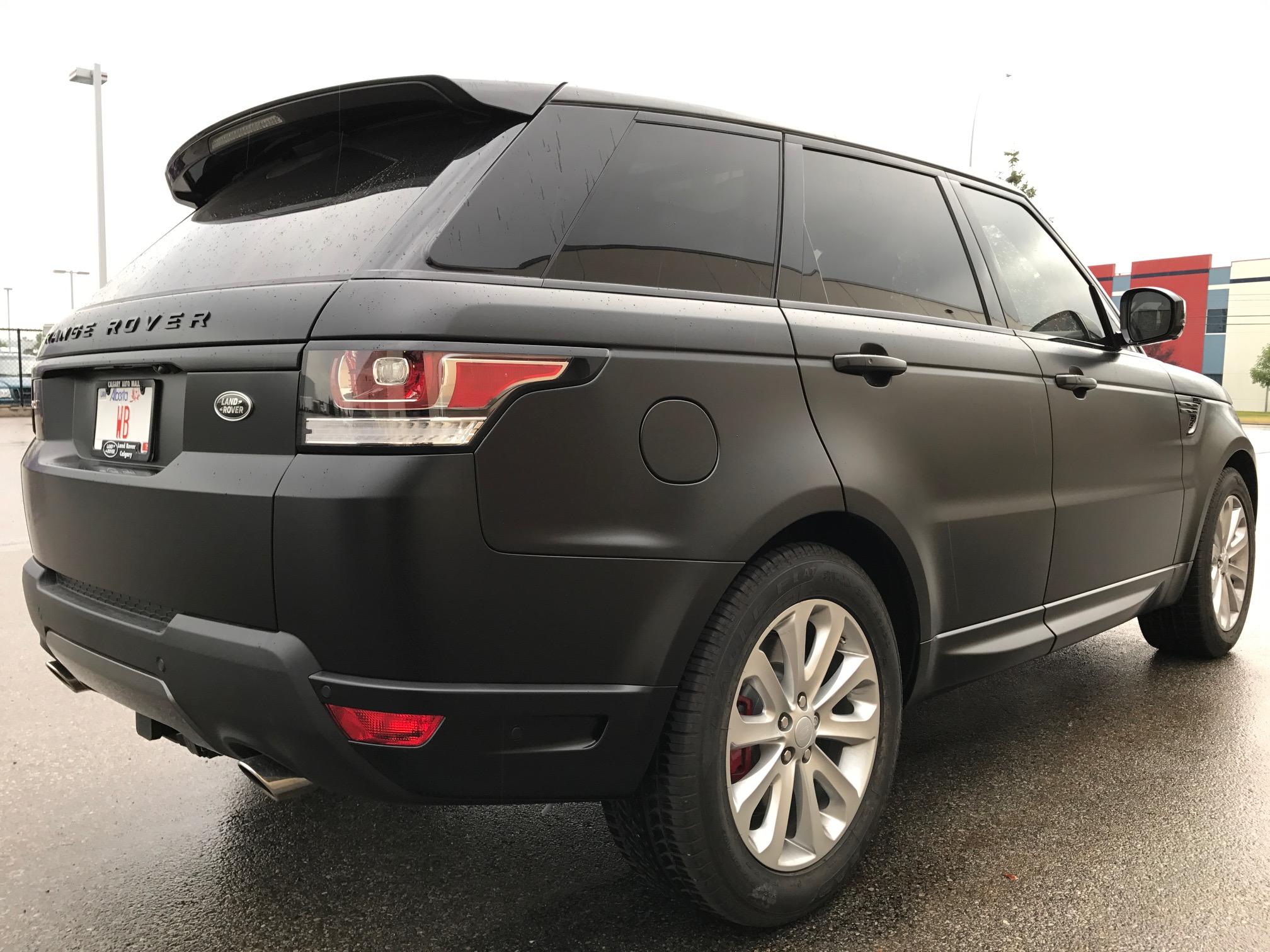 3M Satin Black vehicle wrap