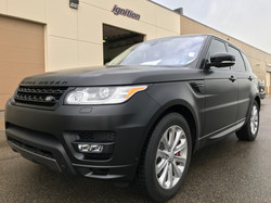 Satin Black vehicle wrap