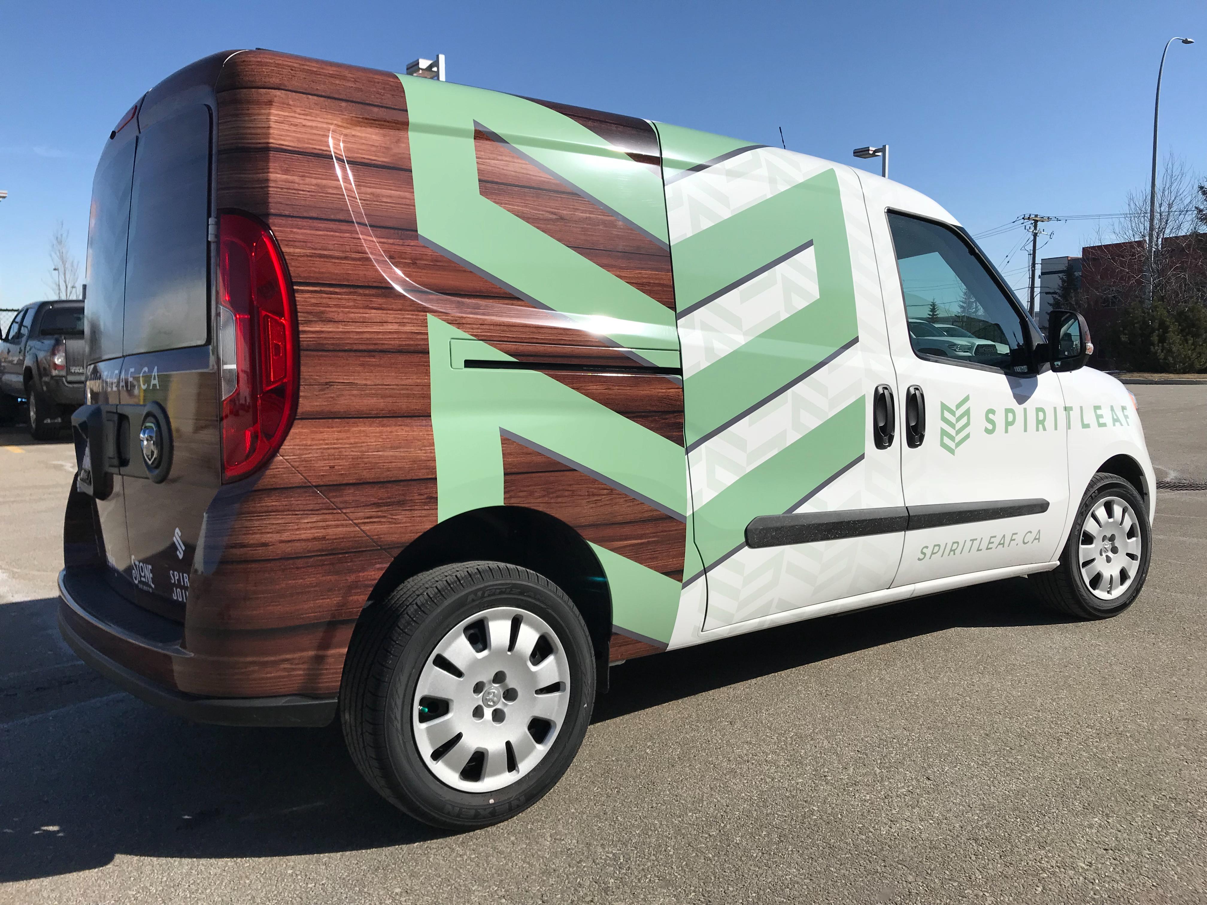 Spirit Leaf full vehicle wrap