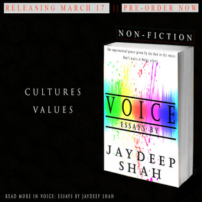 Voice: Essays by Jaydeep Shah (Releasing March 17) - 9 DAYS LEFT