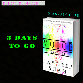 Voice: Essays by Jaydeep Shah [1 DAY TO GO]