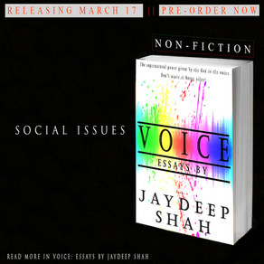 Voice: Essays by Jaydeep Shah (Releasing March 17)