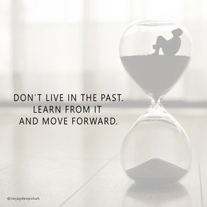 Don't live in the past ...